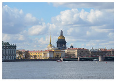 St. Petersburg Russia (mcfcrandall) Tags: stpetersburg russia nevariver dome gold stisaacchurch palacebridge bridge church buildings city