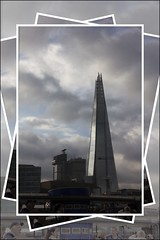 Touching the clouds (Audrey A Jackson) Tags: canon60d london city architecture clouds sky theshard