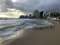 Beach Walk San Juan (pboolkah) Tags: ocean beach hotel buildings clouds