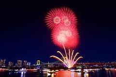 お台場レインボー花火 Odaiba Rainbow Hanabi 2018 (ELCAN KE-7A) Tags: 日本 japan 東京 tokyo 台場 daiba レインボー rainbow ブリッジ bridge イルミネーション ライトアップ illumination 花火 fireworks ペンタックス pentax k3ⅱ 2018