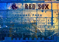 Red Sox score board in ice sculpture (hansntareen) Tags: redsox ice icesculpture fenwaypark scoreboard