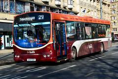 SKO7 CGY (Travis Pictures) Tags: bus buses edinburgh transportforedinburgh lothian lothianbuses princesstreet city citycentre transport publictransport scotland britain uk nikon d5200 photoshop outdoors outside sunny wrightbus singledeck red orange