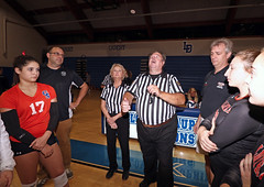 IMG_8389 (SJH Foto) Tags: girls high school volleyball garden spot palmyra regional semifinals canon 1018 f4556 stm superwide lens pregame ceremonies ref referee captains coin toss