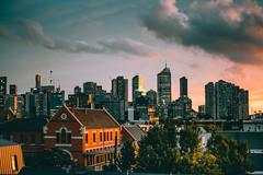 Melbourne (maxvnck) Tags: sunset city explore rooftop town sun light reflect