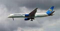 G-FCLJ at LGW (chrysanyo) Tags: lgw uk thomascook boeing b757 airliner