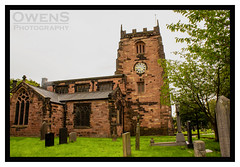 St Mary's Parish Church (OwenSPhotography) Tags: grass tree trees branches twiggs cemetery church landscape landscapes lancashire clock fog close park