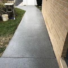 GraniFlex Sidewalk- Zion Pros- Peoria, IL (Decorative Concrete Kingdom) Tags: decorativeconcrete graniflex waterproof epoxy epoxyflooring epoxychip epoxycoating sidewalk illinois peoria