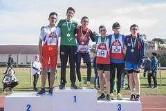 Il podio cadetti Musawir Ali, Samuele Marino, Leonardo Storani
