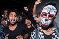 Dhaka | 2018 (Sohail Bin Mohammad) Tags: street streetphotography party mask flash dhaka bangladesh dusk moment candid canon canon700d indoor people happy gesture layers hands urbanstreetphotography urban urbanlife color colorful closeup explore explorer expression unposed fun life night nightphotography nightlife new city citylife flickr dance action asia sohailbinmohammad