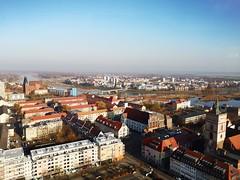 Frankfurt (Oder) und Slubice (Berliner1963) Tags: deutschland germany polen polska poland frankfurtoder slubice oderturm