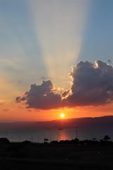 Jordan Aqaba (rolfij) Tags: jordan sunset sun sky cloud aqaba light redsea