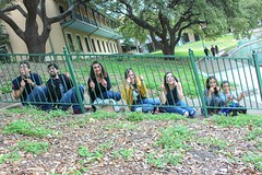 Dork jail (rociomcoss) Tags: sanantonio san antonio texas people family fence bars fun travel green steps riverwalk