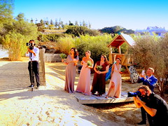 Making a Picture of the Bride (dimaruss34) Tags: newyork brooklyn dmitriyfomenko image sky beachhouseresort greece antiparos bridesmades people photographers trees sand bridge flowers