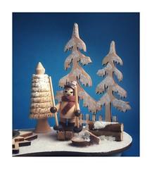 Sir Henry's splendid adventures in the woodlands (heinrich_511) Tags: 2019 happynewyear wwwheinrichgaleriade itstimetotakeaflickrbreak stilllife fir winter heinrich blockhouse path angel fairytale dancewithsnowwhite dream snowwhite wood timber ski blue white adventure woodlands sirhenry