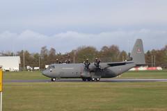 Royal Danish AF Lockheed C-130J-30 Hercules B-537, departure CBG (robertetienne) Tags: lockheed c130 hercules cambridgeairport royaldanishairforce b537 aircraft airplanes propellers military aviation