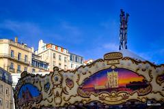 A outra Torre de Belém (hapePHOTOGRAPHIX) Tags: 620lsb 620prt amusementpark colorful europa europe fujixe3 highcontrast karussell lisboa lisbon lissabon object outdoor portugal blue carousel carrusel dsplyys hapephotographix regiãodelisboa pt
