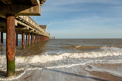 Southwold Pier (Future-Echoes) Tags: 4star 2018 beach coast pier pillars posts sand sea southwold suffolk water