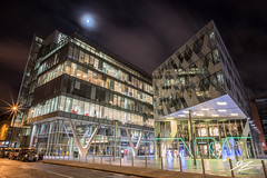 Not A Soul (TVZ Photography) Tags: spinningfields numberone theavenue manchester greatermanchester northwestengland moon architecture building night city evening longexposure lowlight sonya7riii zeiss loxia 21mm