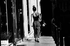 Sometimes, we go into the unknown with great strides (Pierrot 49) Tags: blackandwhite noiretblanc blackandwhiteonly monochrome street city nikonflickraward