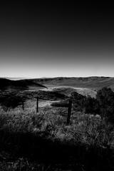 Jim Casy Was Here (ThisIsMorgan) Tags: landscape blackandwhite blackwhite bw fields pasture ranch kern california californiamountains somber arid winter