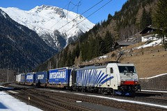 186 440, TEC 41851. Mallnitz (M. Kolenig) Tags: 186 lokomotion schnee berg wald tauernbahn