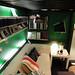 イケアの家具で作った秘密基地風ロフトベッド下の写真