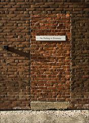 no-parking_driveway_brick-wall_01_8773270453_o (wvs) Tags: facade king stores street strip toronto ontario canada can