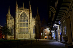 York Minster (robin denton) Tags: york yorkminster minster cathedralcity cathedral gothicarchitecture gothiccathedral churchofengland church tudor tudorarchitecture stwilliamscollege nightphotography nightshot photomatix