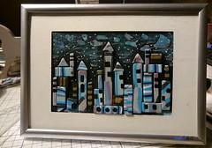THE BLUE FANTASY CITY (Fimeli) Tags: polyclay polymerclay fantasie picture handmade handwork handbemalt bild