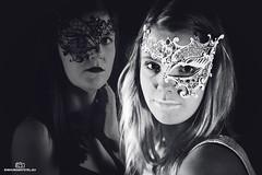 White Mask (einhundertstel.eu) Tags: bnw bw blackandwhite mask woman girl blonde white lipstick portrait
