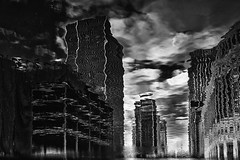 Financial world of illusion... (JM@MC) Tags: london londres reflection reflet city blackandwhite