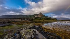 Yes,Its that castle again (Phil-Gregory) Tags: eileendonalcastle nikon d7200 tokina1120mmatx tokina 1116mmf8 1120mmproatx11 1120mmproatx castle rainbow lochduich loch scenicsnotjustlandscapes scotland highlands isleofskye