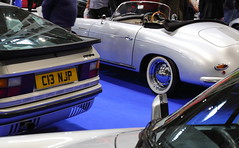 Porsche 944 and 356 Speedster (JoRoSm) Tags: lancaster insurance classic motor show nec birmingham car cars automobile auto nationalexhibitioncentre carshow 2018 sports performance classics yesteryear polished rides wheels canon 500d tamron porsche porker german supercar old 944 356 speedster silver coupe convertible eos transport national exhibition centre indoor