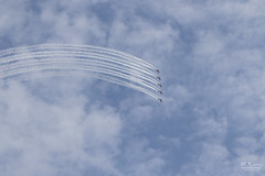 Air Show (Mohamed Rimzan) Tags: airshow doha qatar flight acrobatic sky blue italy army