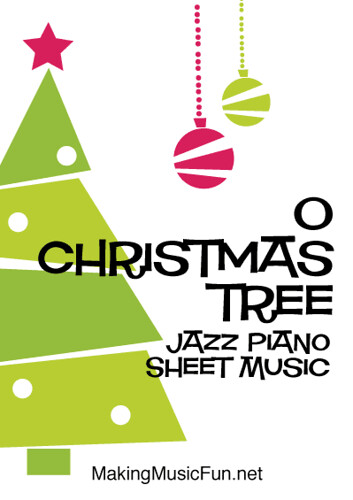 O Christmas Tree | Free Easy Jazz Piano Sheet Music (PDF) - a photo
