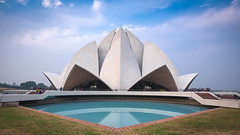 Delhi's Lotus Temple (Janet Marshall LRPS) Tags: temple india newdelhi bahai expressionistarchitecture fariborzsahba