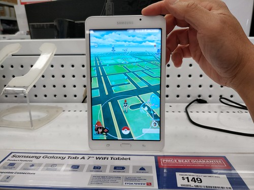 Pokemon Go map - Samsung Galaxy Tab A 7-inch AUD149 at Officeworks