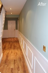Hall, interior painting and panelling, after