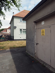 substation (chrisinplymouth) Tags: building house substation socialhousing devonport plymouth devon england uk city cw69x perspective housingestate desx diagx xg diagonal diag 134 plain