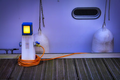 power bollard... (HUNGRYGH0ST) Tags: power bollard point mains electric electricity blue ship boat vessel