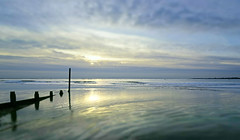Winter's watery colours (skipnclick) Tags: westt wittering uk contra jour sea sunset sky colours greens blues nikon d750 1635mm groyne sussex peaceful dynamic