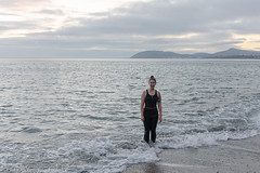 First swim of 2019 - DSC_0383 (John Hickey - fotosbyjohnh) Tags: 2019 january2019 killiney sunrise dublin ireland seascape seaside sea seashore beach irishsea portrait woman lady female person