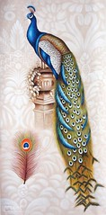 Pretentious, Art Painting / Oil Painting For Sale - Arteet™ (arteetgallery) Tags: arteet oil paintings canvas art artwork fine arts peacock background feather blue bird white illustration isolated drawing tail beautiful beauty design elegant colorful bright vintage animal ornament oriental animals birds watercolor