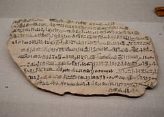 Chicago, IL - University of Chicago - Oriental Institute - Egyptian - Hieratic Ostracon (jrozwado) Tags: northamerica usa illinois chicago universityofchicago university museum orientalinstitute middleeast neareast history archaeology egyptian ostracon hieratic