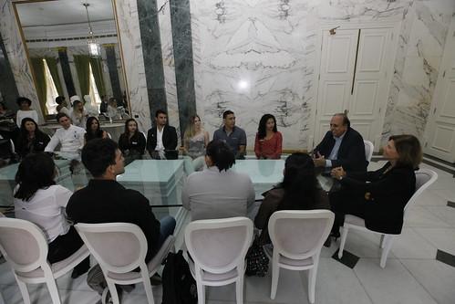 Alunos no Palácio Guanabara