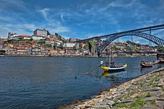 Puente  Luis I, Porto (Portugal) (Miguelanxo57) Tags: río agua cielo duero barcos rabelos puente puenteluisi porto portugal