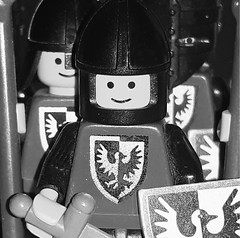 Macro Mondays - Back to Square One (vegeta25) Tags: blackfalcon blackandwhite bw macro macromondays macromonday square lego classic classiccastle minifigure minifigures minifig smile medieval