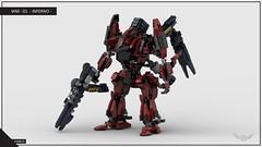 Void Pirate - Inferno 02 - No Pilot (SHR0UD) Tags: lego ldd studio render moc brick mech mecha robot void pirate armoredcore shr0ud scifi inferno widowmaker karasawa space