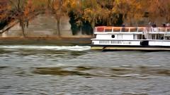 Barging Through (6) (Carl Campbell) Tags: nikond5200 paris enhanced seine barge river