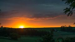 Sunset in Fairfield (Dennis Crain) Tags: sunset fairfield landscape fields farmland wheat wheatfields pastoral farm countryside rural